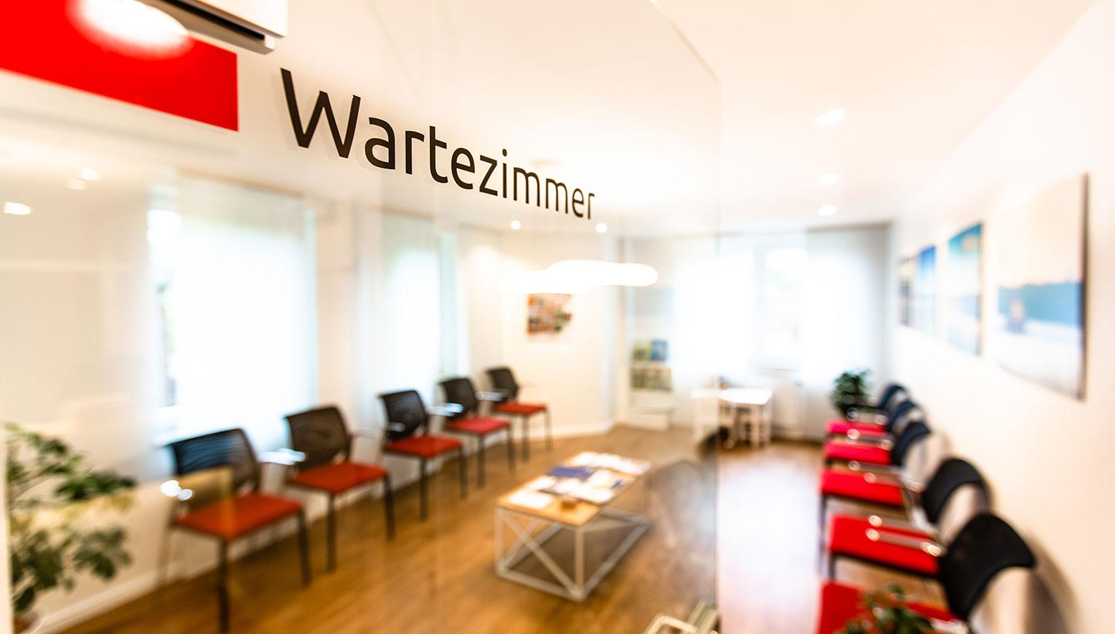 Wartezimmer der Frauenarztpraxis Wulfsbrook