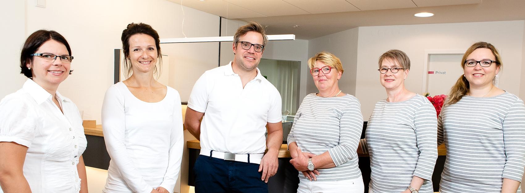 Praxisteam der Frauenarztpraxis Wulfsbrook